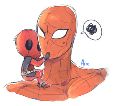 Spideypool by Arr3
