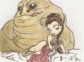 Slave Leia by AmberStoneArt