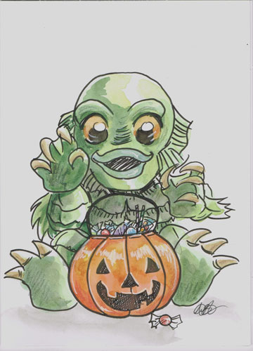 Creature from Black Lagoon Lane by AmberStoneArt