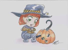 Halloween Academy card Chloe and Tupper