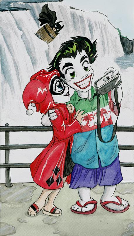 Harley Joker Honeymoon by AmberStoneArt