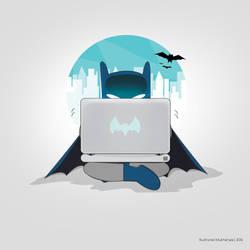 Bats on his Lappy by UltraShiva
