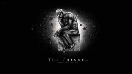 The Thinker Wallpaper by UltraShiva