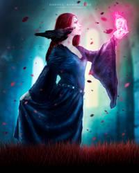 Lyria- The Sorceress by UltraShiva