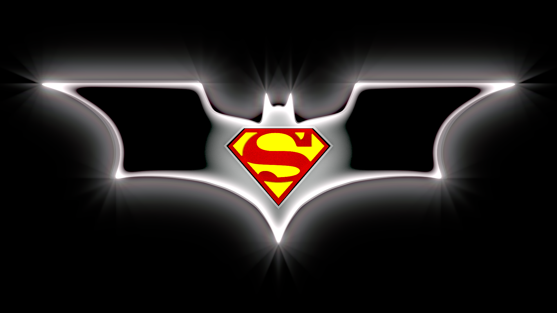 Batman And Superman Logo By Davros The 2nd