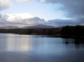 Loch Laggan late winter sunset by rh281285