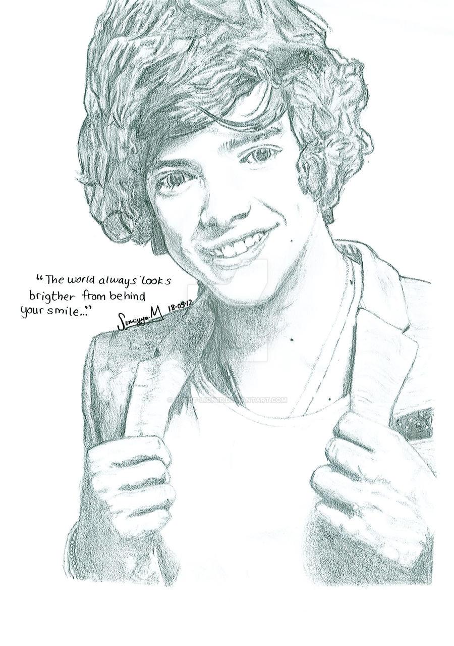 Harry Styles portrait by sweet-lion1d