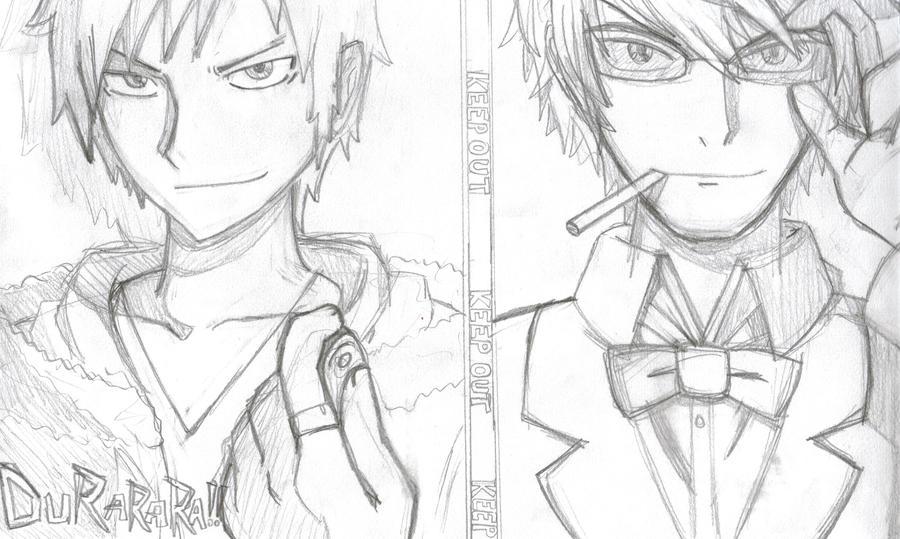 DURARARA! Izaya and Shizuo by Mangapainter22