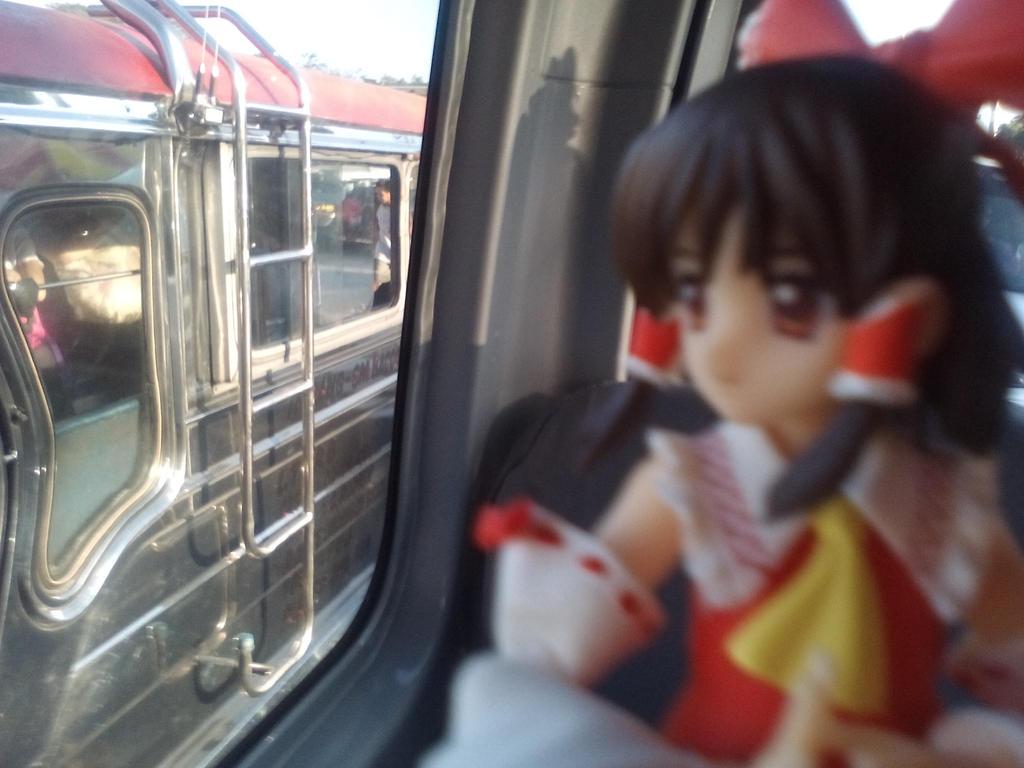 Reimu in a van by GiromCalica