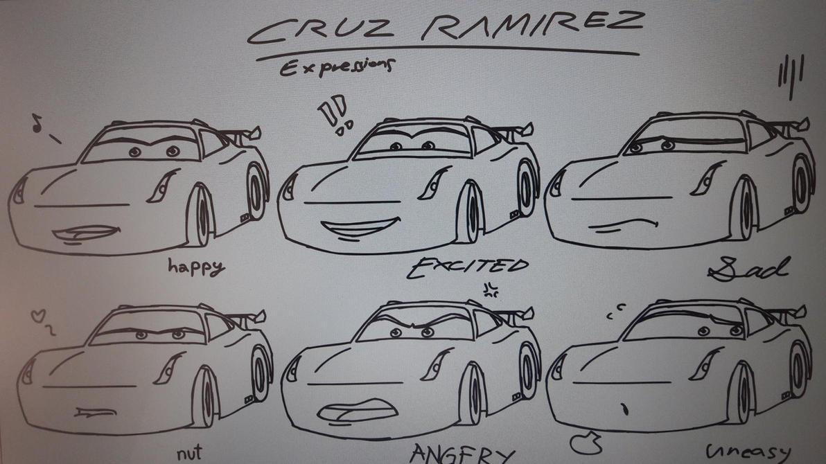 Cruz Ramirez expressions by GiromCalica