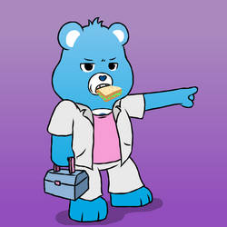Grumpy Bear - Dressed