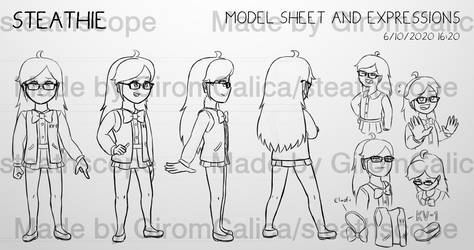 [MODEL SHEET AND EXPRESSIONS] Steathie