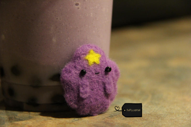 Needle felted lumps (for sale) by FluffyParcel