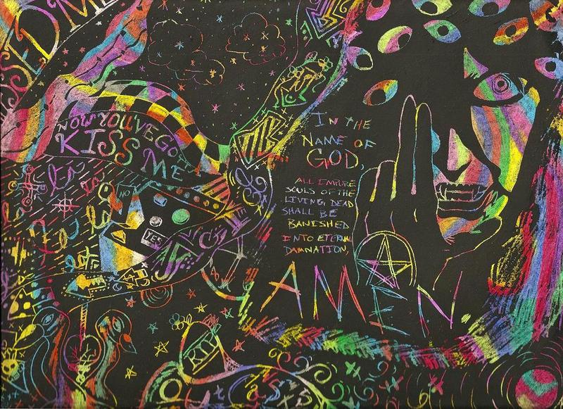 acid trip scratchboard by xdarkshadowx on deviantart