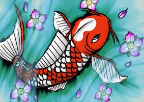 koi fish by Ziime