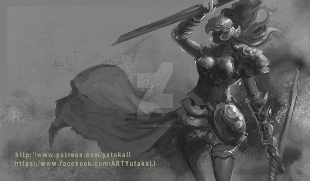Femalewarrior-rough0325 by yutaka11111