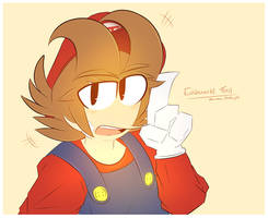Eddsworld Tord as Mario by Akumarou