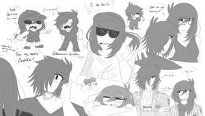 Doodles 1# - Ken and Aku by Akumarou