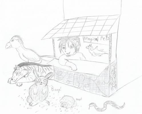 Magical pet shop
