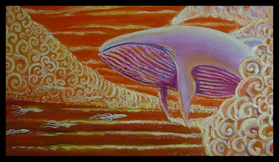 ballena al oleo by guayasamin