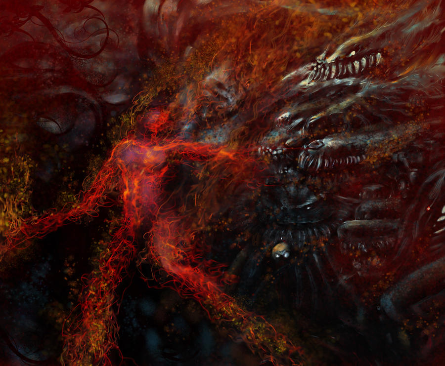 The Burning Hell by guayasamin