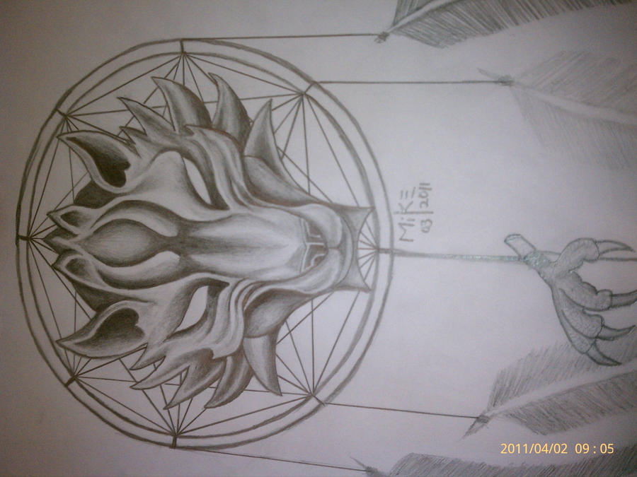 wolf dreamcatcher drawing related - photo #20