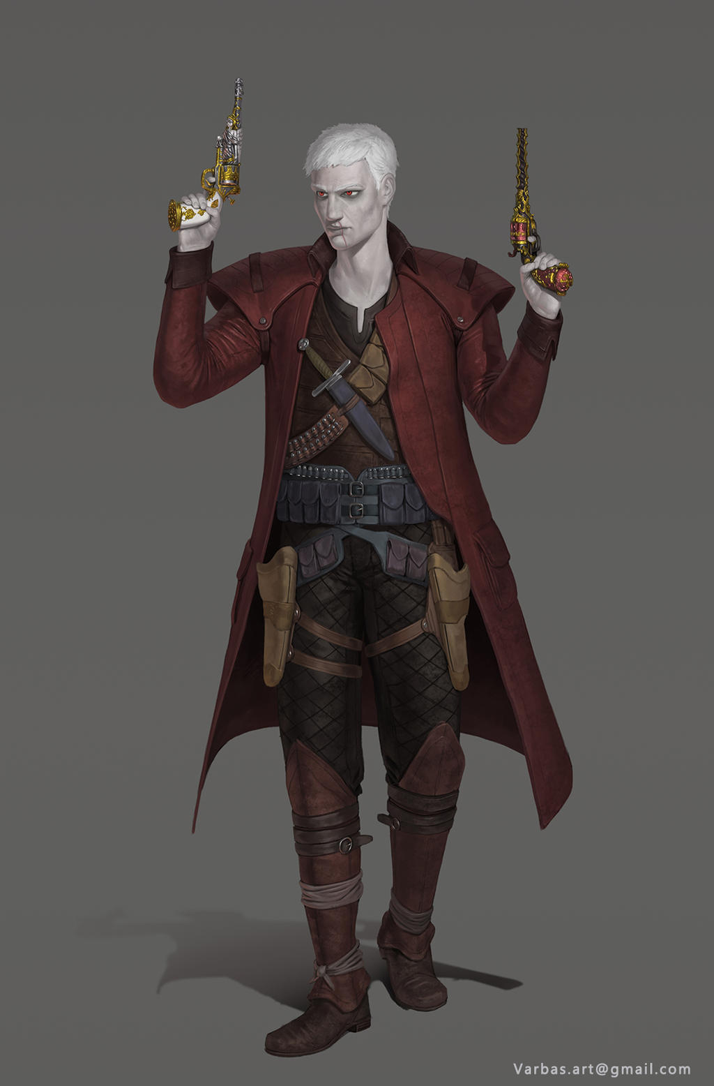 Fallen Aasimar Gunslinger By Varbas On Deviantart