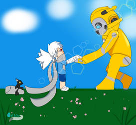 Kari and Bumblebee meet