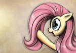 Fluttershy playing with her mane