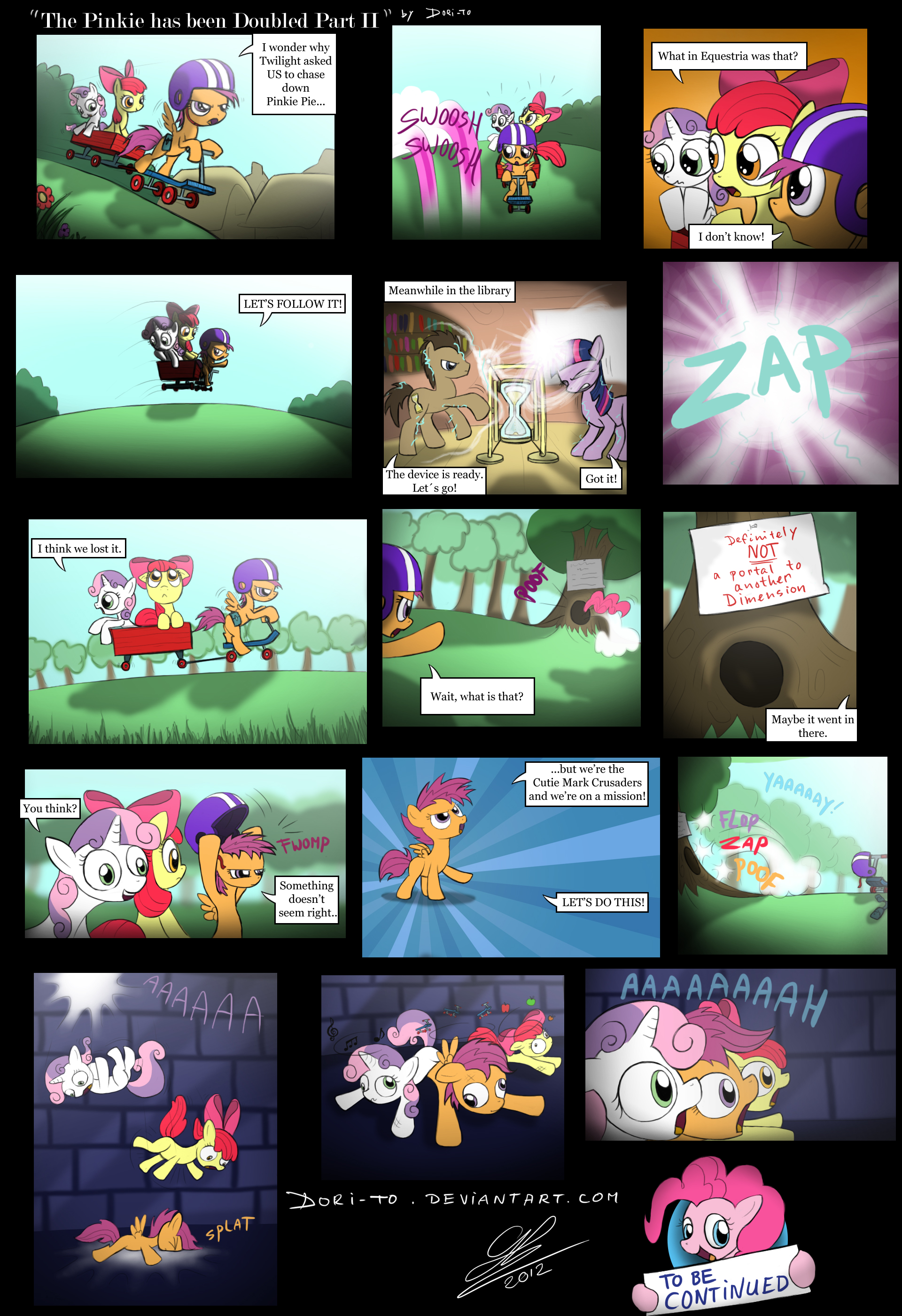 Comic - 'The Pinkie has been doubled Part II' by Dori-to