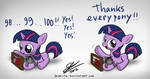 Filly Twilight says thank you