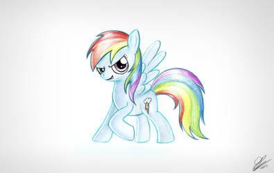 Rainbow Dash Scan by Dori-to