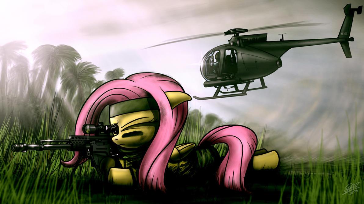 Fluttersniper and AH-6 'Little Bird' by Dori-to