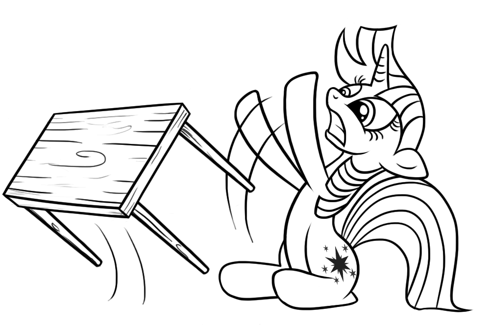 Twilight table flip outline by Dori-to ...