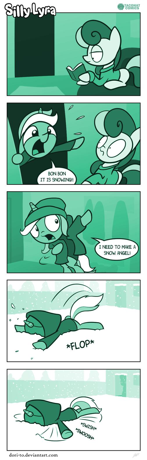 Silly Lyra - Snow Mare by Dori-to