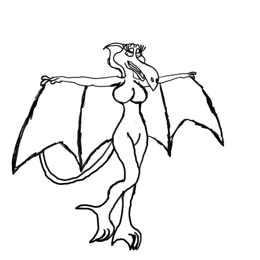 elsa the pterodactyl w i p by phoenixwolfie on deviantart