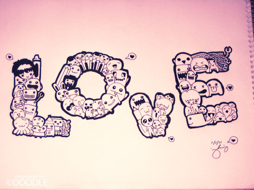 Love doodle by iamsuperjamie on deviantart for Love doodles to draw