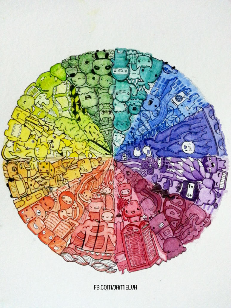 Doodle Art Color Wheel 2 By Iamsuperjamie On Deviantart
