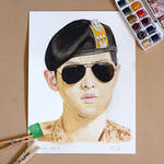 [Watercolor] Song Joong Ki with speed painting