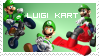Luigi Kart - Stamp by ASecondOpinion
