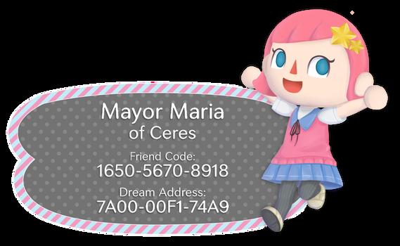 Animal Crossing Town Card