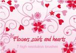 Flowers,swirls and hearts