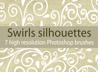 Swirls silhouettes brushes by brushesstock