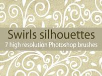 Swirls silhouettes brushes by brushesstock