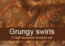 Grungy swirls brushes