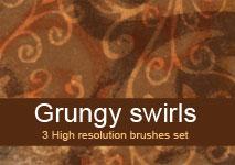 Grungy swirls brushes by brushesstock