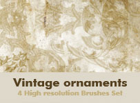 Vintage ornaments by brushesstock