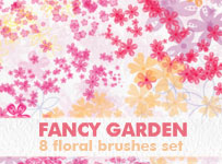Fancy garden by brushesstock