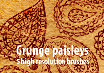 Grunge paisleys by brushesstock