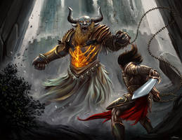Minotaur Last Fight by ARTCADEV
